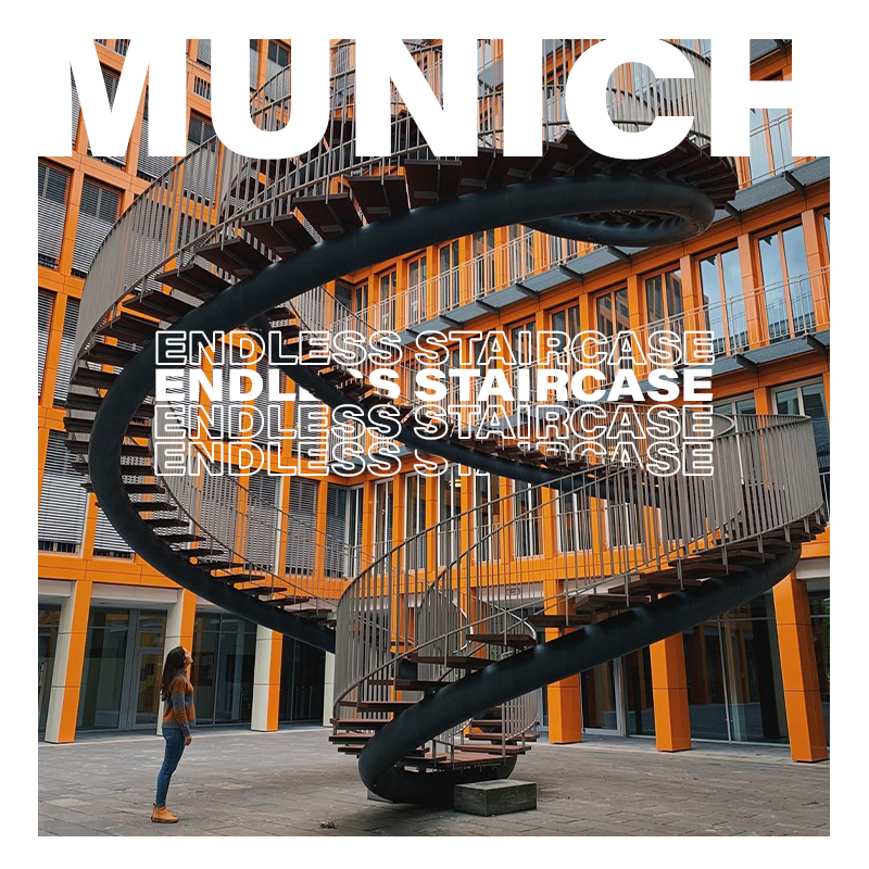 Münih'teki Endless Staircase