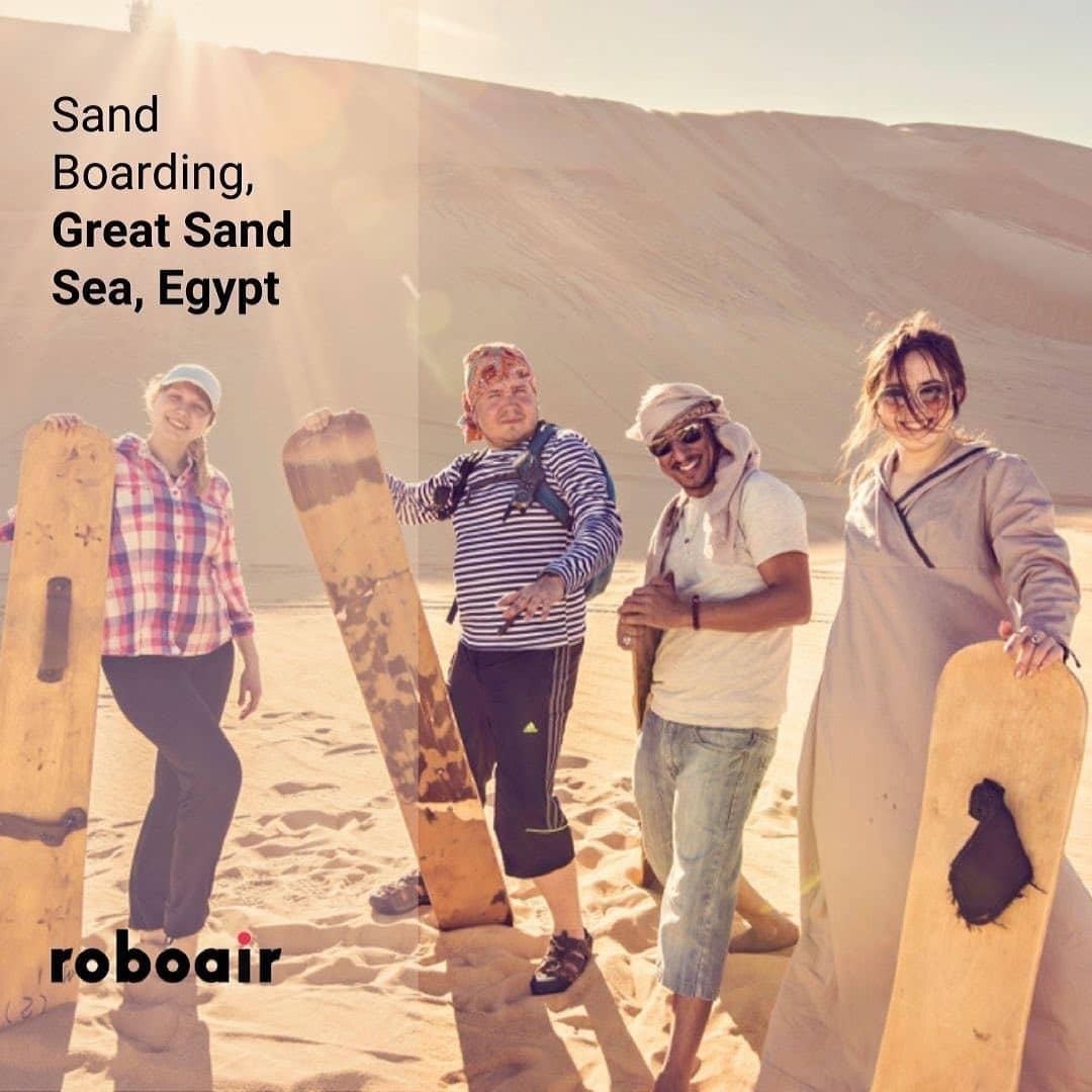 Sand Boarding, Egypt