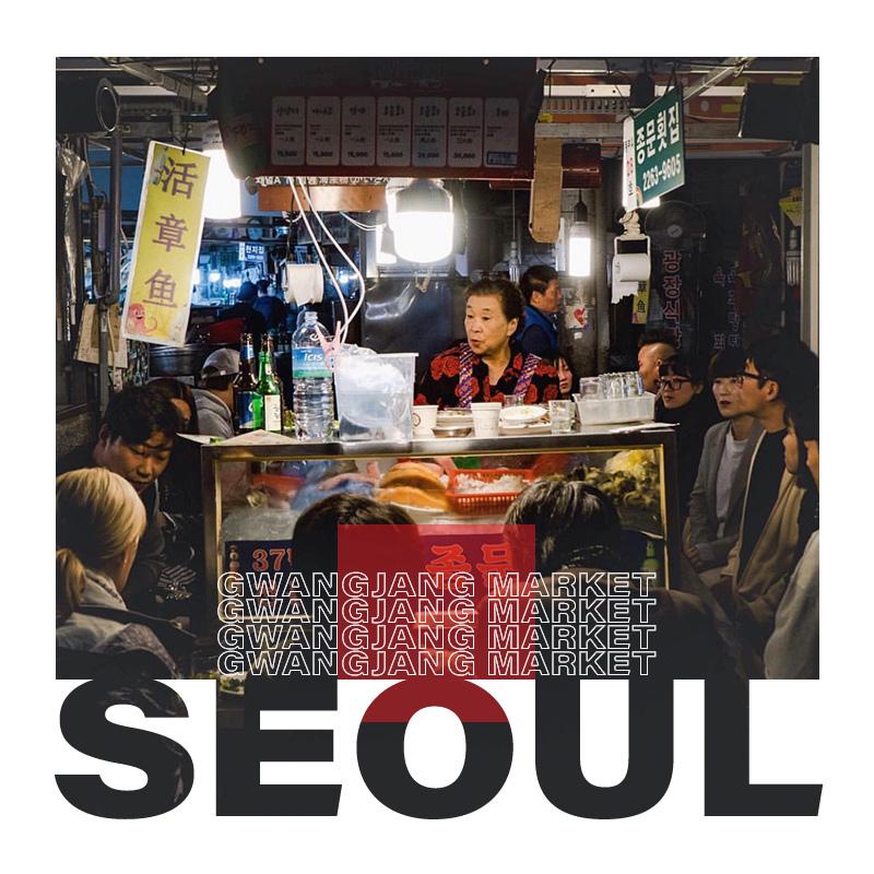 Seul'deki Gwangjang Market